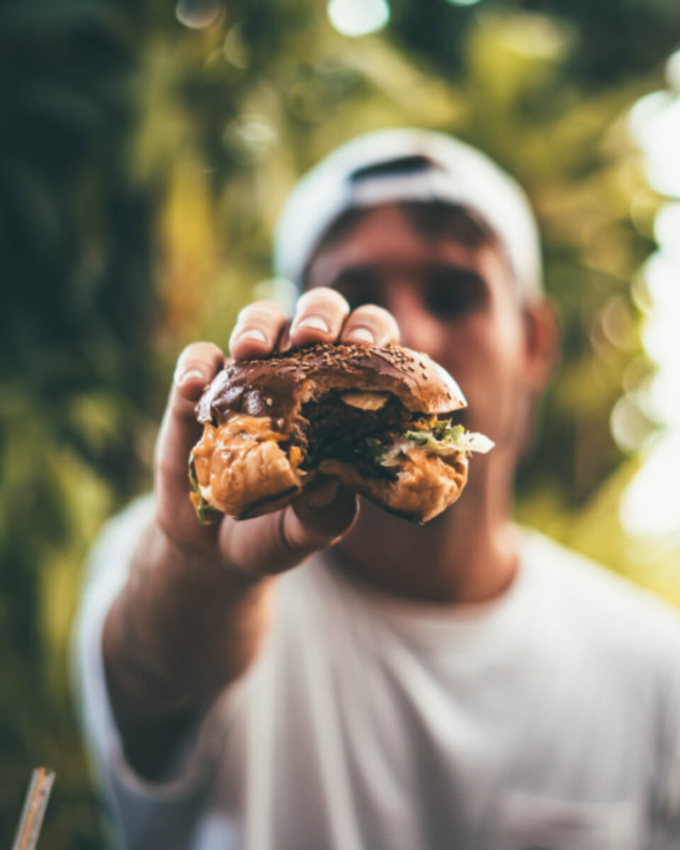 Give a huge bite to your Burger and have fun.